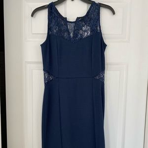 Navy aqua dress with tags